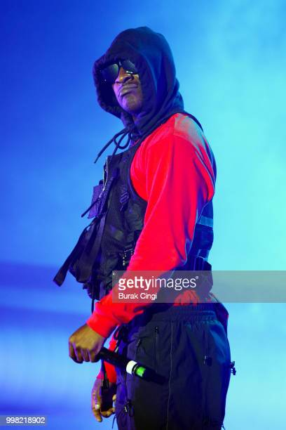 Skepta performs on day 1 of Lovebox festival at Gunnersbury Park on July 13 2018 in London England