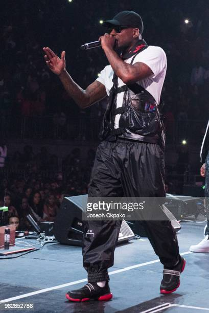 Skepta performs on stage during AFROREPUBLIK festival at The O2 Arena on May 26 2018 in London England