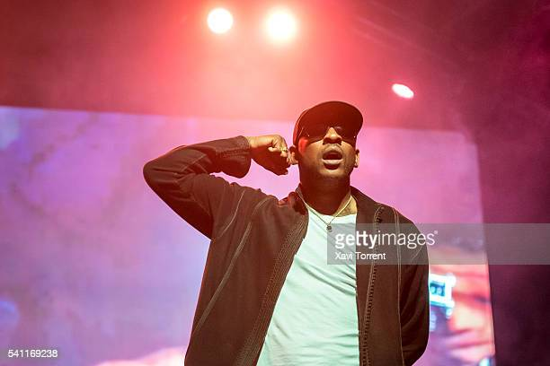 Skepta performs on stage during day 3 of Sonar Festival 2016 on June 18 2016 in Barcelona Spain