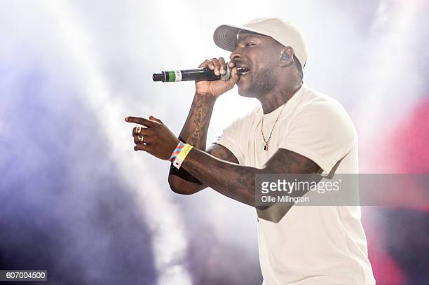Skepta performs on the mainstage during the 2nd day of Bestival 2016 at Robin Hill Country Park on September 10 2016 in Newport Isle of Wight
