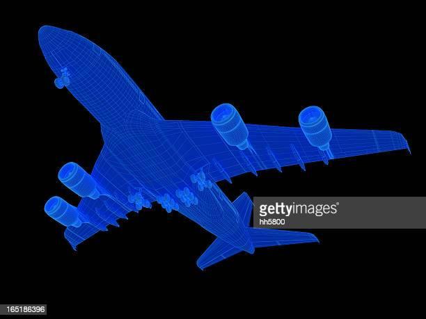 3 D desenho de avião A380 da