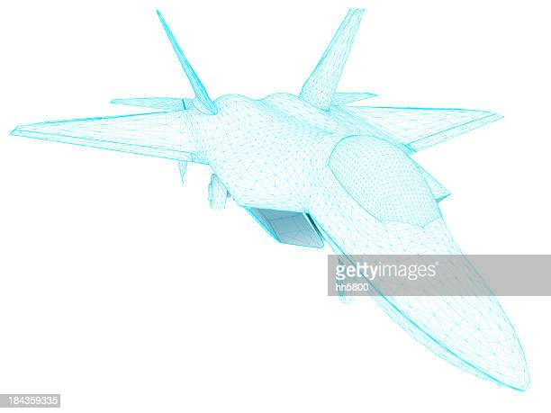 3D Sketch architecture US Air Force F-22 Raptor 2
