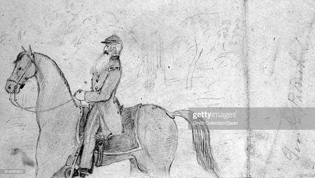 Sketch Depicting General Patrick Cleburne An Irish American Soldier
