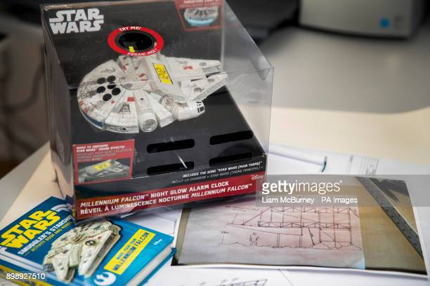 The Last Jedi film given to extreme scaffolding specialist Eddie Gallen who used it to assemble the famous Star Wars spaceship the Millennium Falcon...
