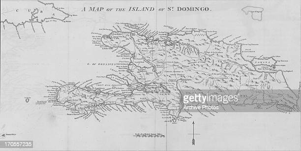 A sketch map of the Island of Saint Domingo a French colony in the Caribbean from 16591890 Following the Revolution and Negro Rebellion the territory...