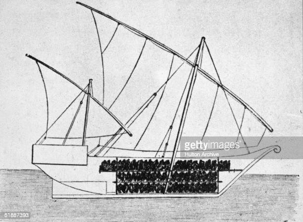 Sketch of a ship used to transport slaves 1750s