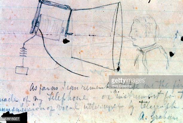 Sketch of Alexander Graham Bell's telephone of 1876 Scottishborn American inventor Bell filed the patent for his telephone at the United States...