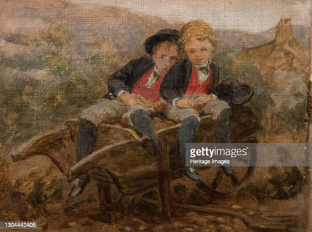 Sketch Of The Hons. Dudley And Archie Hamilton Gordon, 1890. Artist Louisa Starr.