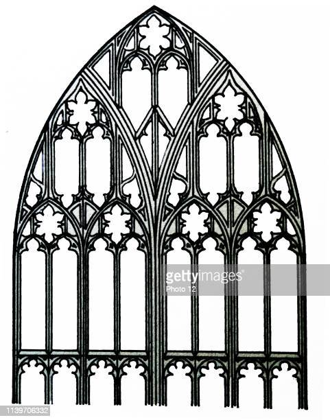 Sketch of the South transept window of Gloucester Cathedral Gloucester Cathedral or the Cathedral Church of St Peter and the Holy and Indivisible...