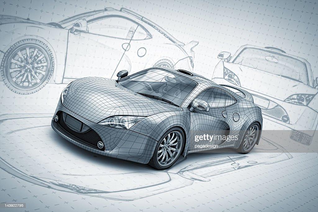 sketch supercar : Bildbanksbilder