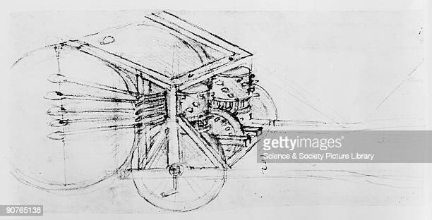 Sketch taken from a notebook by Leonardo Da Vinci Da Vinci was the most outstanding Italian painter sculptor architect and engineer of the...