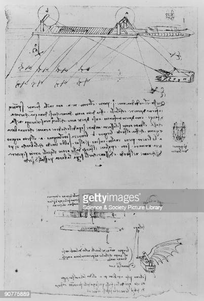 Sketch taken from a notebook by Leonardo Da Vinci . Da