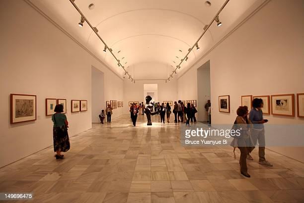Sketches by Pablo Picasso in Reina Sofia National Art Museum (Museo Nacional de Arte Reina Sofia).