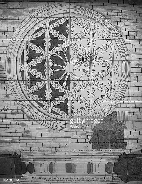sketches of the rose window, winchester palace - vsojoy stock pictures, royalty-free photos & images