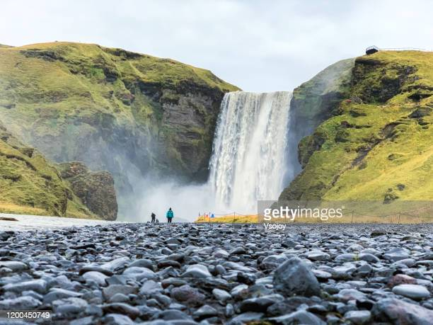 skógafoss ii, south iceland, iceland - vsojoy stock pictures, royalty-free photos & images