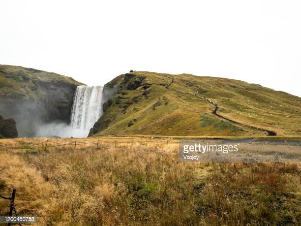 skógafoss iii, south iceland, iceland - vsojoy stock pictures, royalty-free photos & images