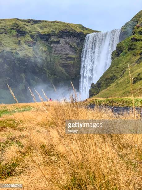 skógafoss iv, south iceland, iceland - vsojoy stock pictures, royalty-free photos & images