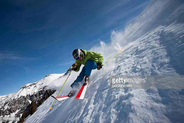 ski action - ski racing stock pictures, royalty-free photos & images