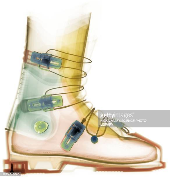 ski boot, x-ray - snow boot stock pictures, royalty-free photos & images