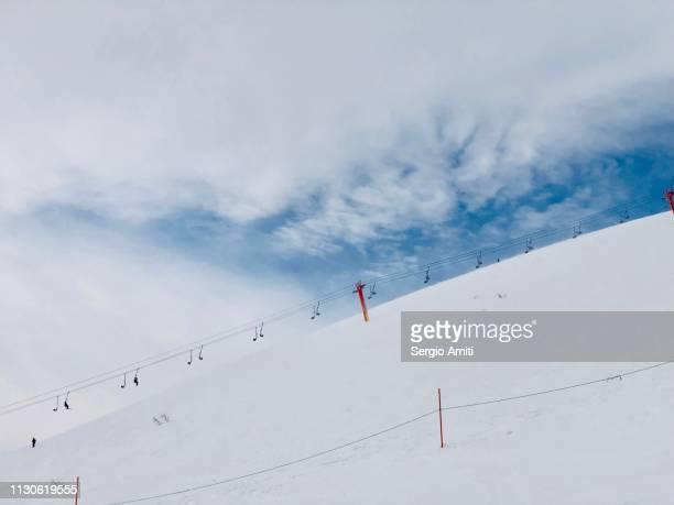 Ski chairlifts at Niseko, Hokkaido