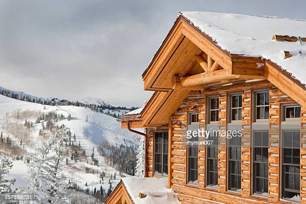 ski chalet - utah stock pictures, royalty-free photos & images