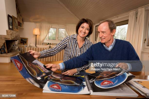 Ski champion JeanClaude Killy is photographed with his partner for Paris Match on January 15 2018 in Cologny Switzerland