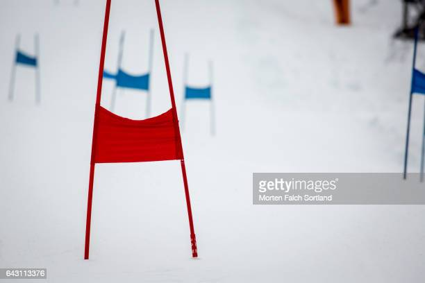 ski flag - winter sports event stock pictures, royalty-free photos & images