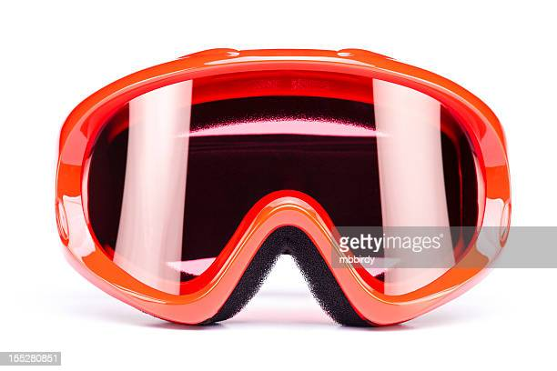ski goggles, isolated on white background - ski wear stock pictures, royalty-free photos & images