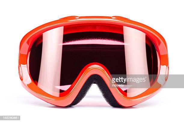 Skibrille, isoliert auf weißem Hintergrund