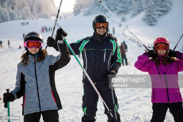 ski holiday in mountains - winter sport stock pictures, royalty-free photos & images