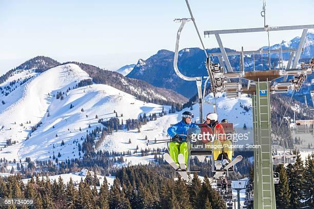 Ski holiday, Ski lift Sudelfeld, Bavaria, Germany