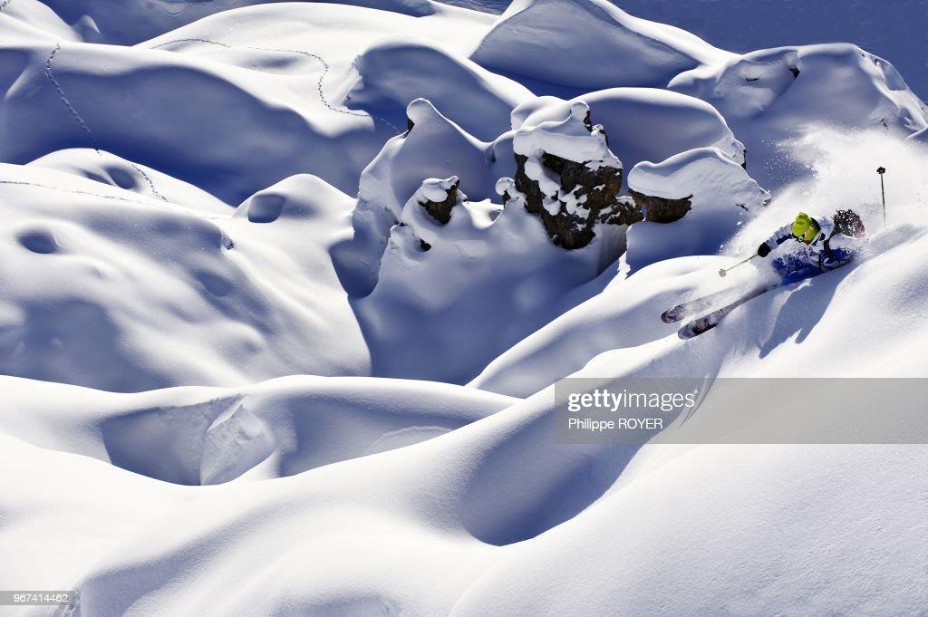 Ski In La Plagne, Savoy, France : Foto jornalística