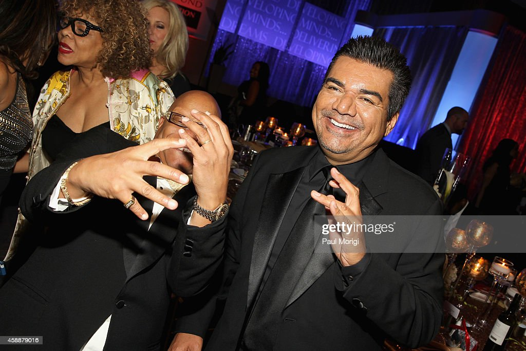 Ski Johnson And George Lopez Attend The Thurgood Marshall College
