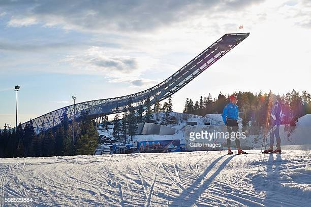 Ski jump hill during the FIS Ski Jumping World Cup Ladies' HS134 on February 4 2016 in Oslo Norway