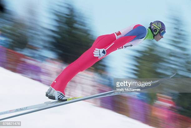 Ski Jumper at the Albertville Olympics