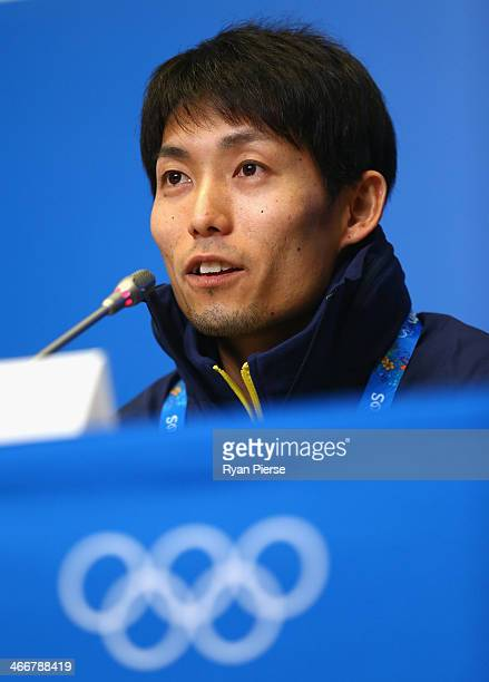 Ski Jumper Daiki Ito of Japan attends a press conference at Gorki Press Center ahead of the Sochi 2014 Winter Olympic on February 4 2014 in Sochi...