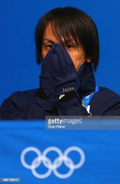 Ski Jumper Noriaki Kasai of Japan attends a press conference at Gorki Press Center ahead of the Sochi 2014 Winter Olympic on February 4 2014 in Sochi...