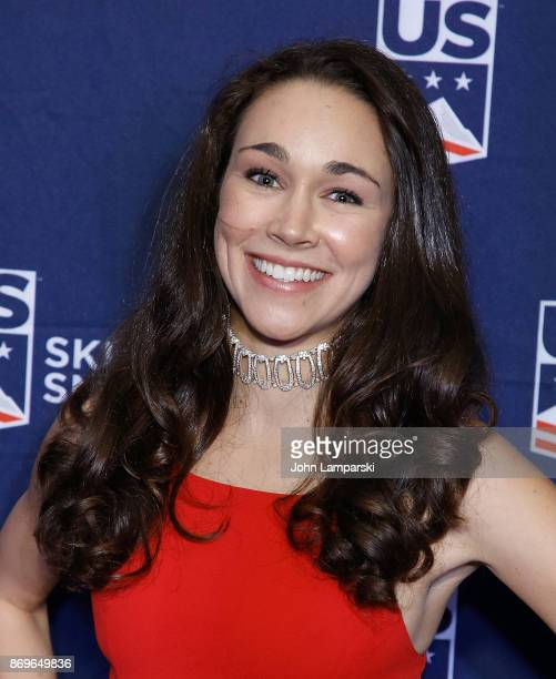 Ski Jumping World Champion Sarah Hendrickson attends 51st New York Gold Medal Gala at The Ziegfeld Ballroom on November 2 2017 in New York City