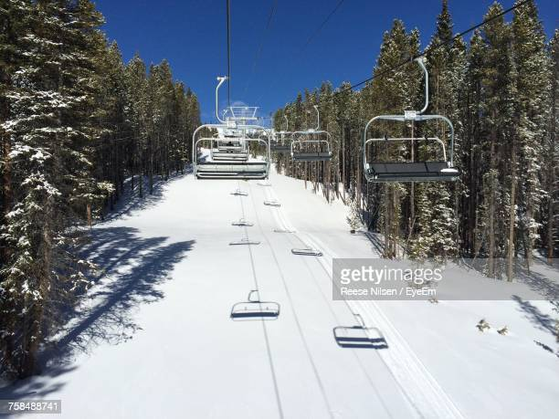 ski lift against sky - ski lift stock pictures, royalty-free photos & images