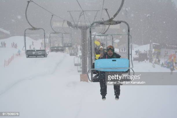 Ski lift and sledge