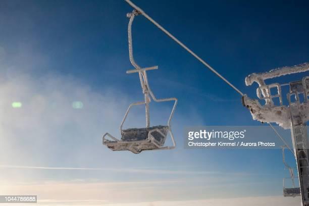 Ski Lift at Big White Mountain Ski Resort, British Columbia, Canada