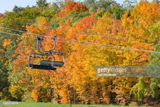 Ski Lift in Autumn