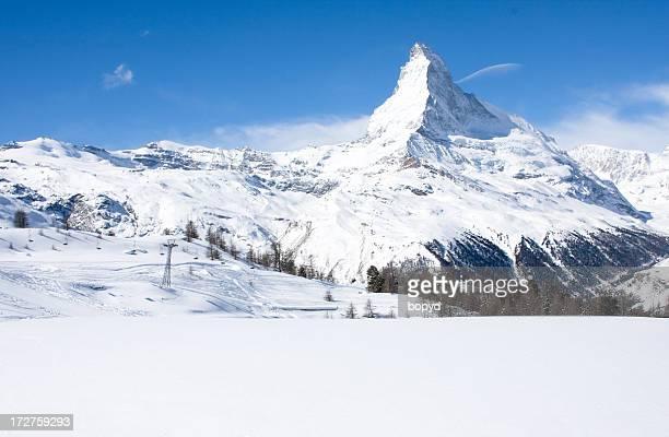 Ski Lift in front of the Matterhorn