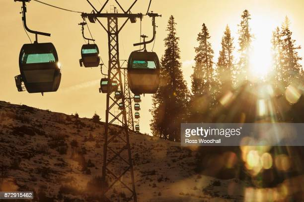 Ski lift, Klosters, Switzerland.