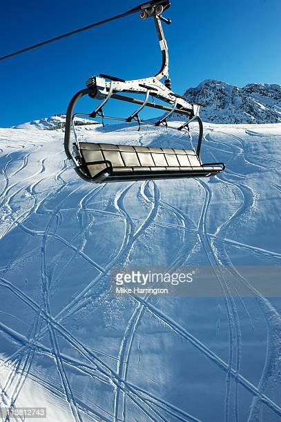 Ski Lift Over La Plagne Mountains