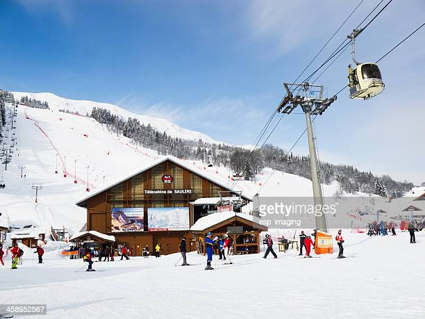 Ski lift station in Meribel France