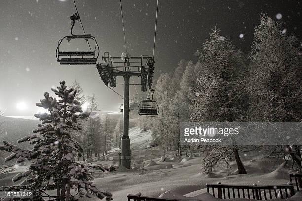 Ski lift, Val d'Isere