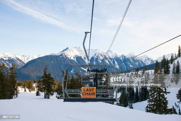 Ski Lift With Mountains In Background North Cascades