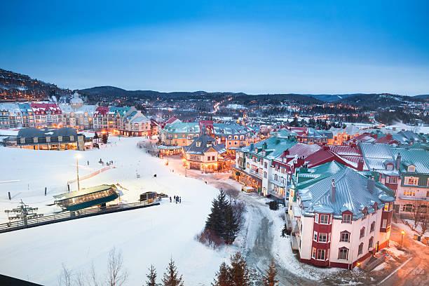 Ski lifts at Mont Tremblant village