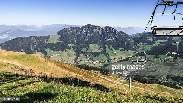Ski lifts in mountains, Austria